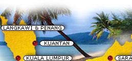 Malaysia, Kuala Lumpur, Penang, Langkawi, Pangkor, Kuantan, Tioman, Perhentian, Redang, Borneo, Sabah, Sarawak, Kinabalu, Malaiische Halbinsel, Ostmalaysia